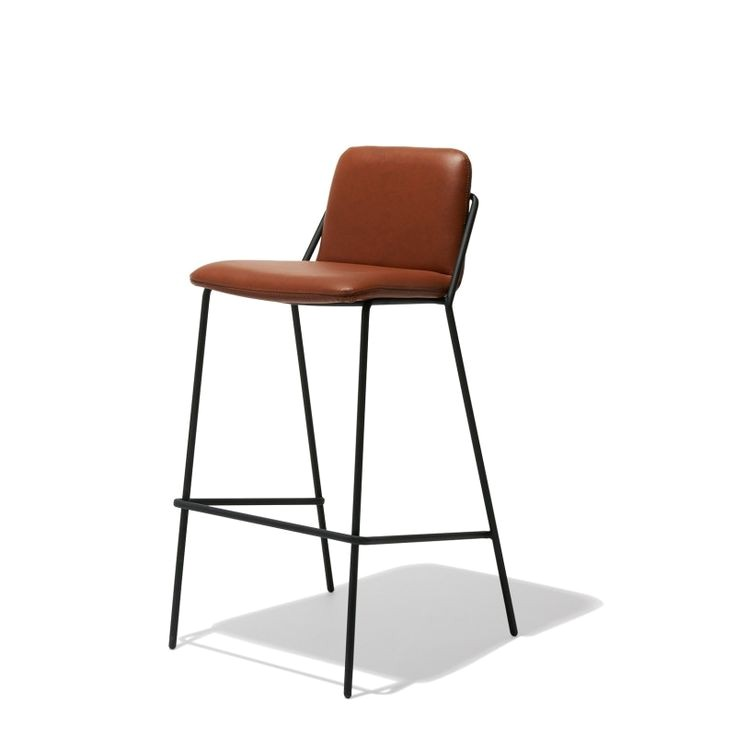 Industry West Sling Bar Stool Industry West Sling Bar Stool Leather Fiction