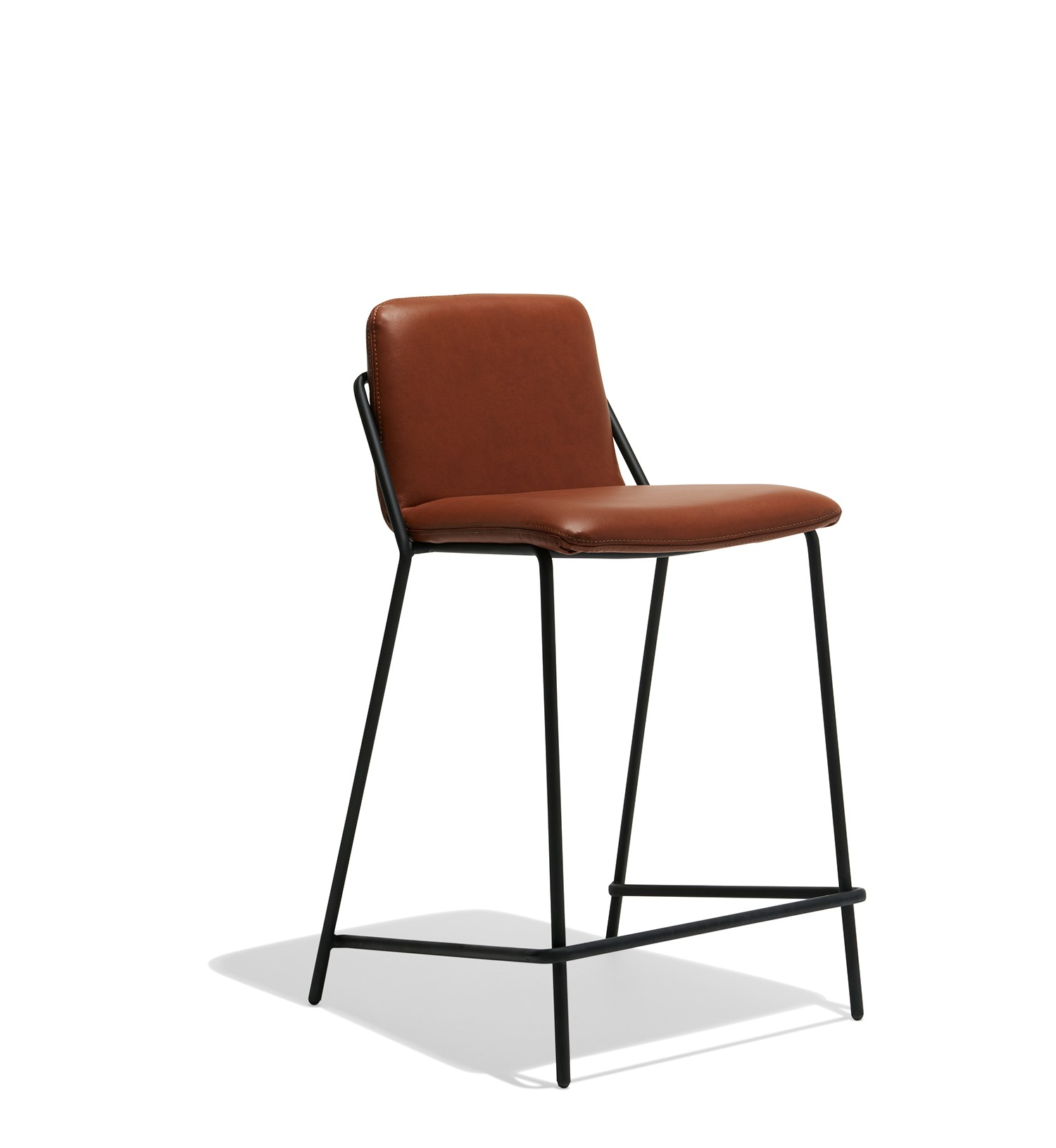 kitchen black leather counter stool