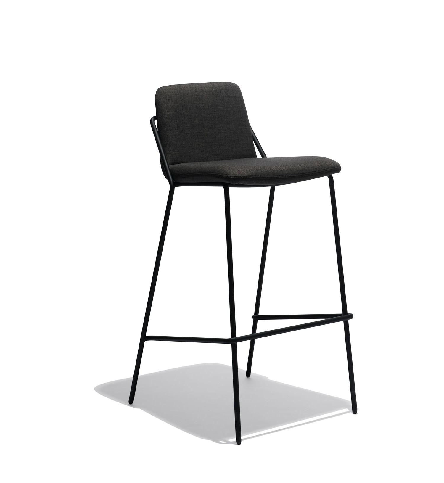 sling bar stool upholstered