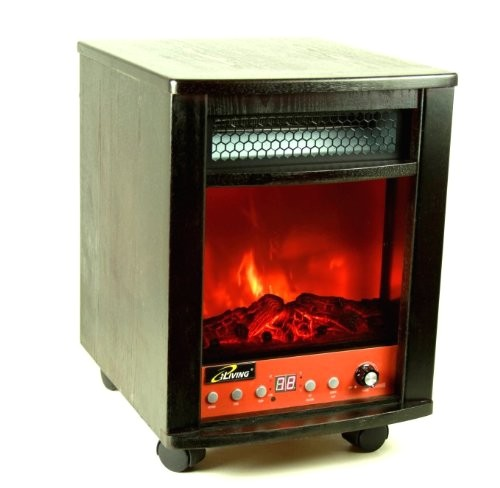infrared heater vs electric fireplace