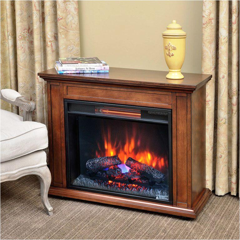 portable electric infrared fireplace