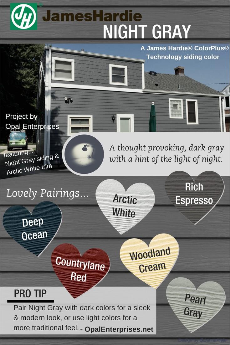 James Hardie Night Gray Vs Iron Gray Night Gray Designing with James Hardie Siding Colors Opal