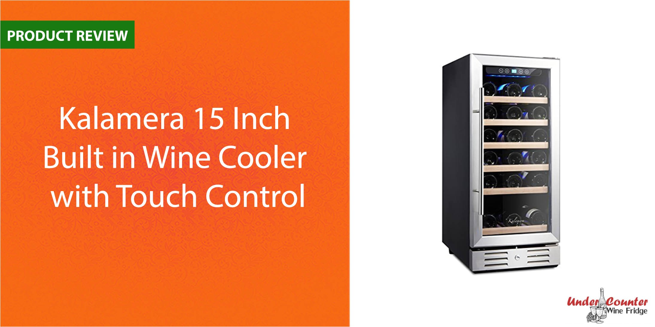 kalamera 15 inch built in wine cooler 30 bottle