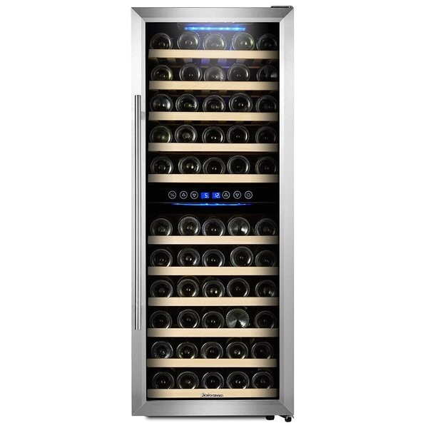 kalamera 73 bottle dual zone freestanding wine cooler kmer1010