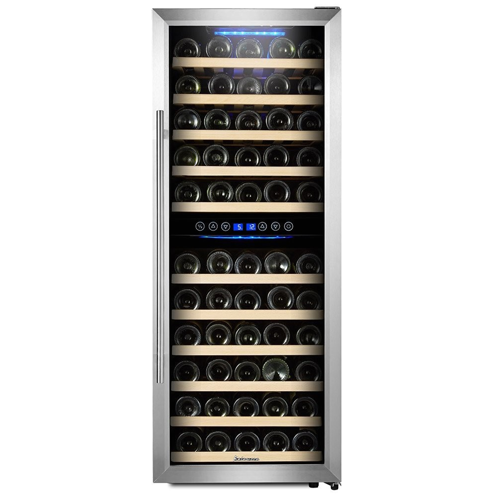 Kalamera 73 Bottle Wine Cooler Reviews Kalamera 73 Bottle Dual Zone Freestanding Wine