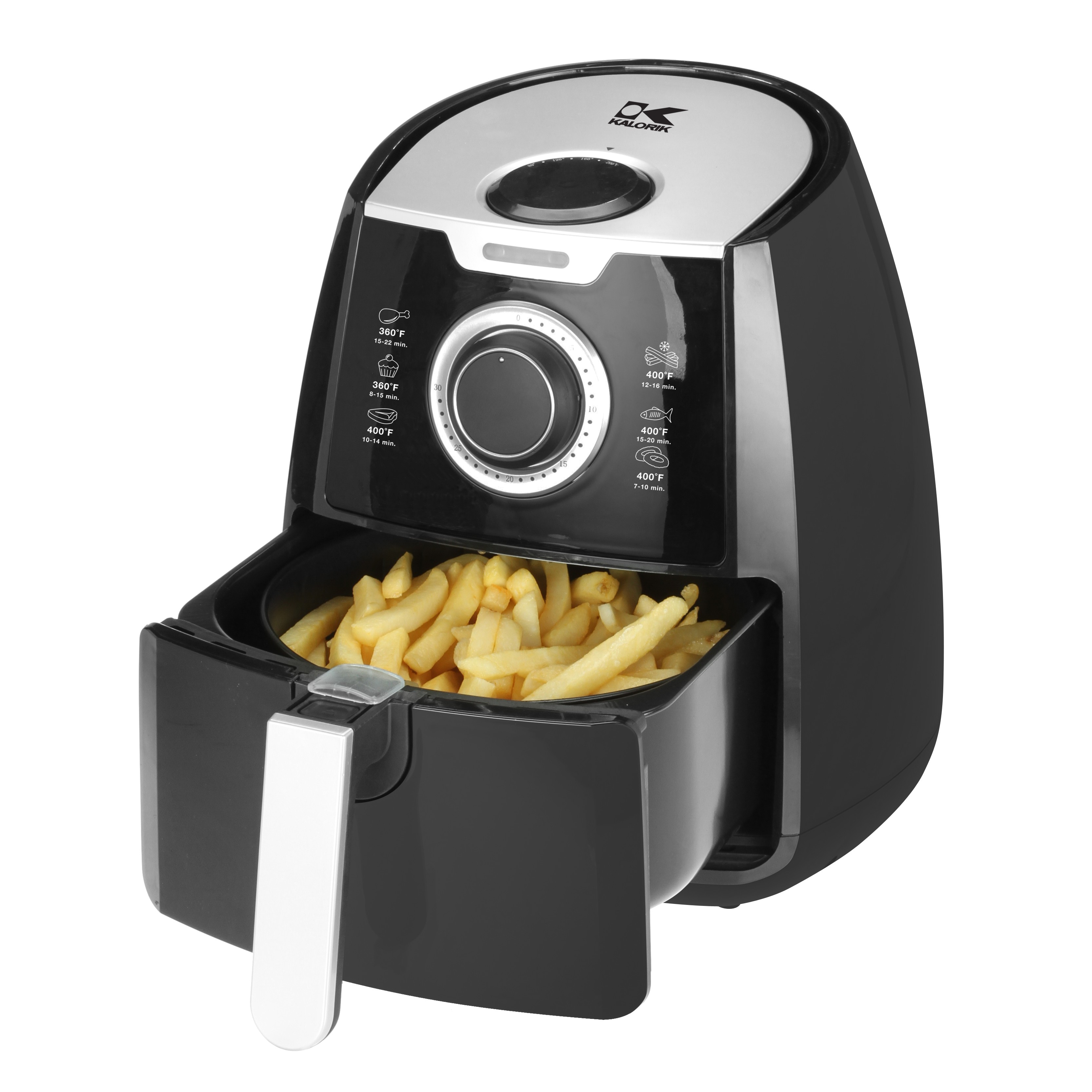 kalorik black airfryer with dual layer rack ft 42139 bk rik1884
