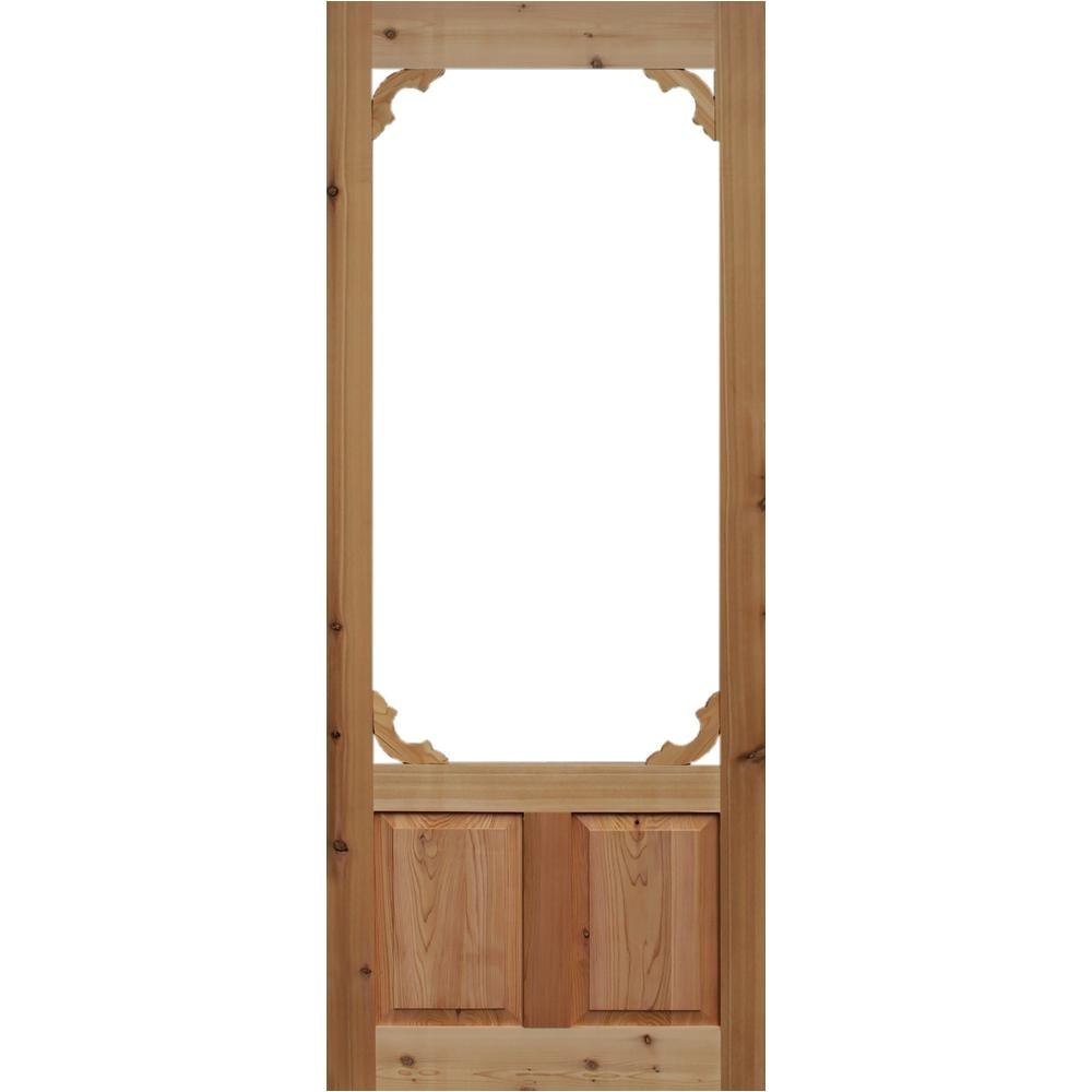 Kimberly Bay Screen Doors Kimberly Bay 36 In X 80 In Woodland Cedar Screen Door