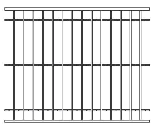 74 640120 fence panel