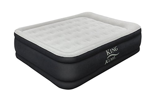 king koil queen size luxury raised air mattress best inflatable airbed with builtin pump elevated raised air ap b06xwg7h3s