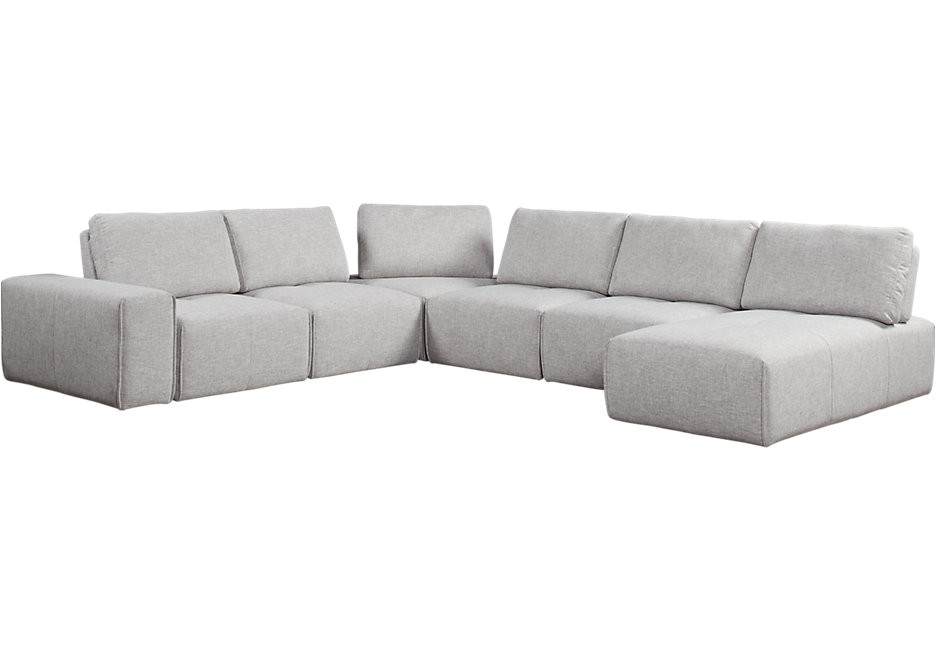 Laney Park 7 Pc Sectional Laney Park Gray 7 Pc Sectional Living Room Sets Gray