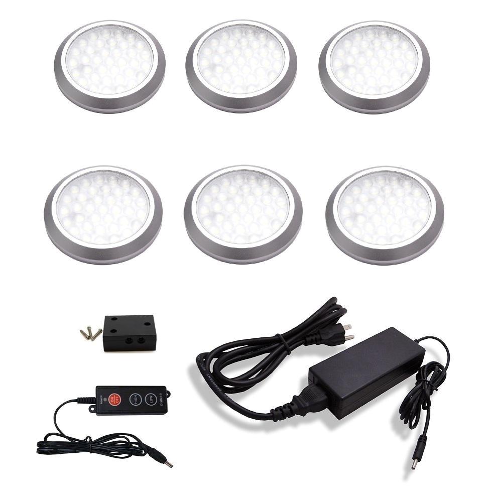 Led Puck Lights 12v Home Depot Macleds Led Under Cabinet Low Profile Puck Light Kit 6