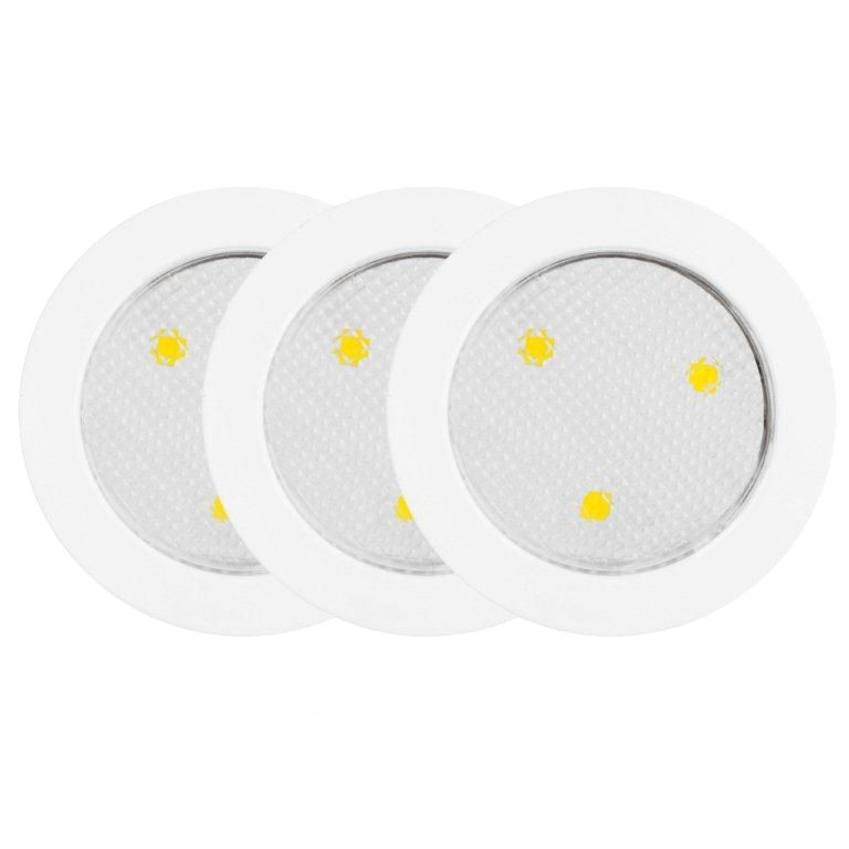 led under cabinet puck lights white 3 pack 25787 canada