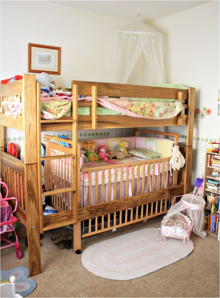 toddler bunk bed with crib