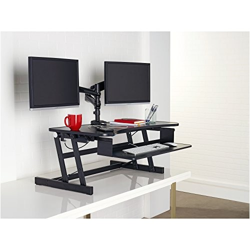 Lorell Llr 99759 Deluxe Ergonomic Sit-to-stand Monitor Riser Lorell Llr99759 Deluxe Ergonomic Sit to Stand Monitor