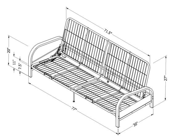 mainstays metal arm futon assembly instruction
