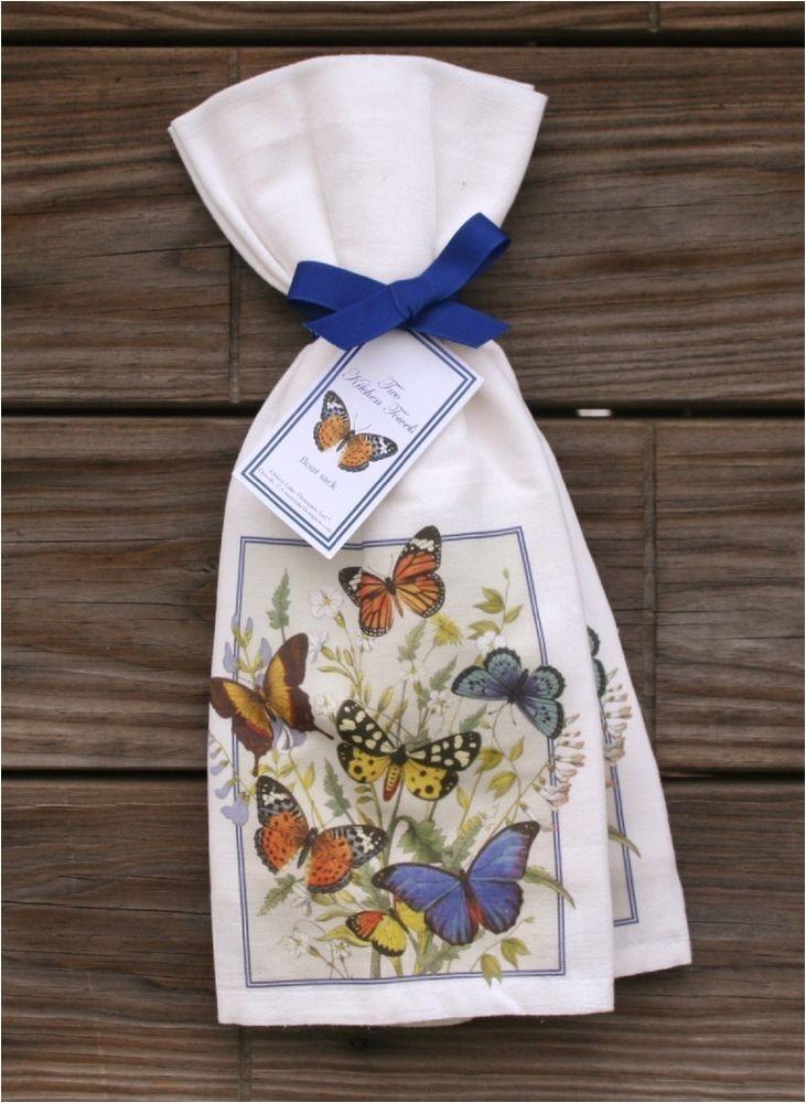 Mary Lake Thompson Flour Sack towels Mary Lake Thompson Flour Sack towels Set Of 2 butterfly