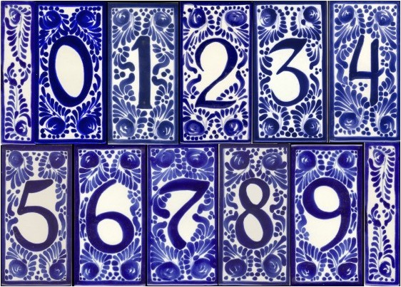 house number tile and frames 2