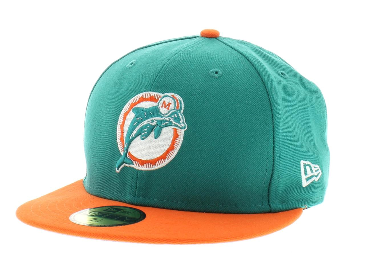 6 miami dolphins nfl team colors the historic basic fitted 59fifty 5950 new era
