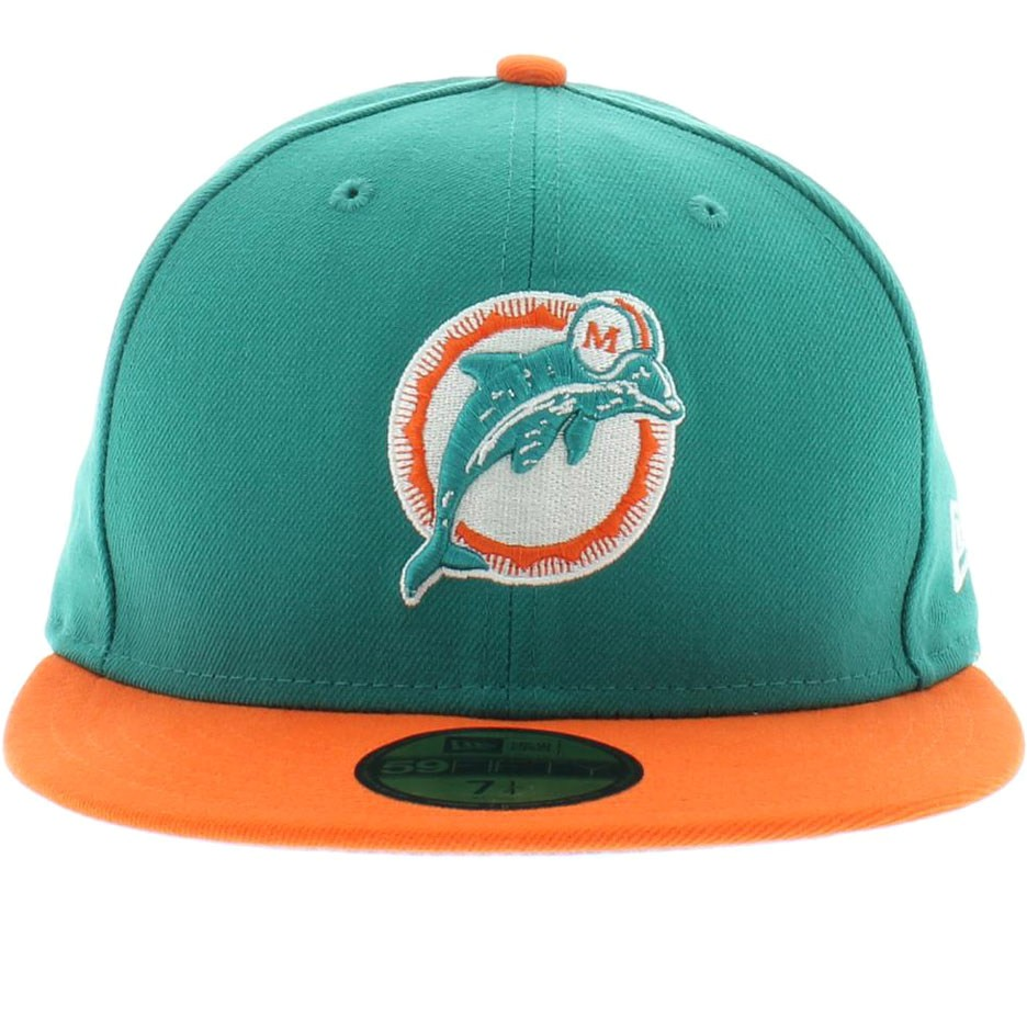 Miami Dolphins Official Colors Miami Dolphins Historic Basic 59fifty Craniumfitteds Com