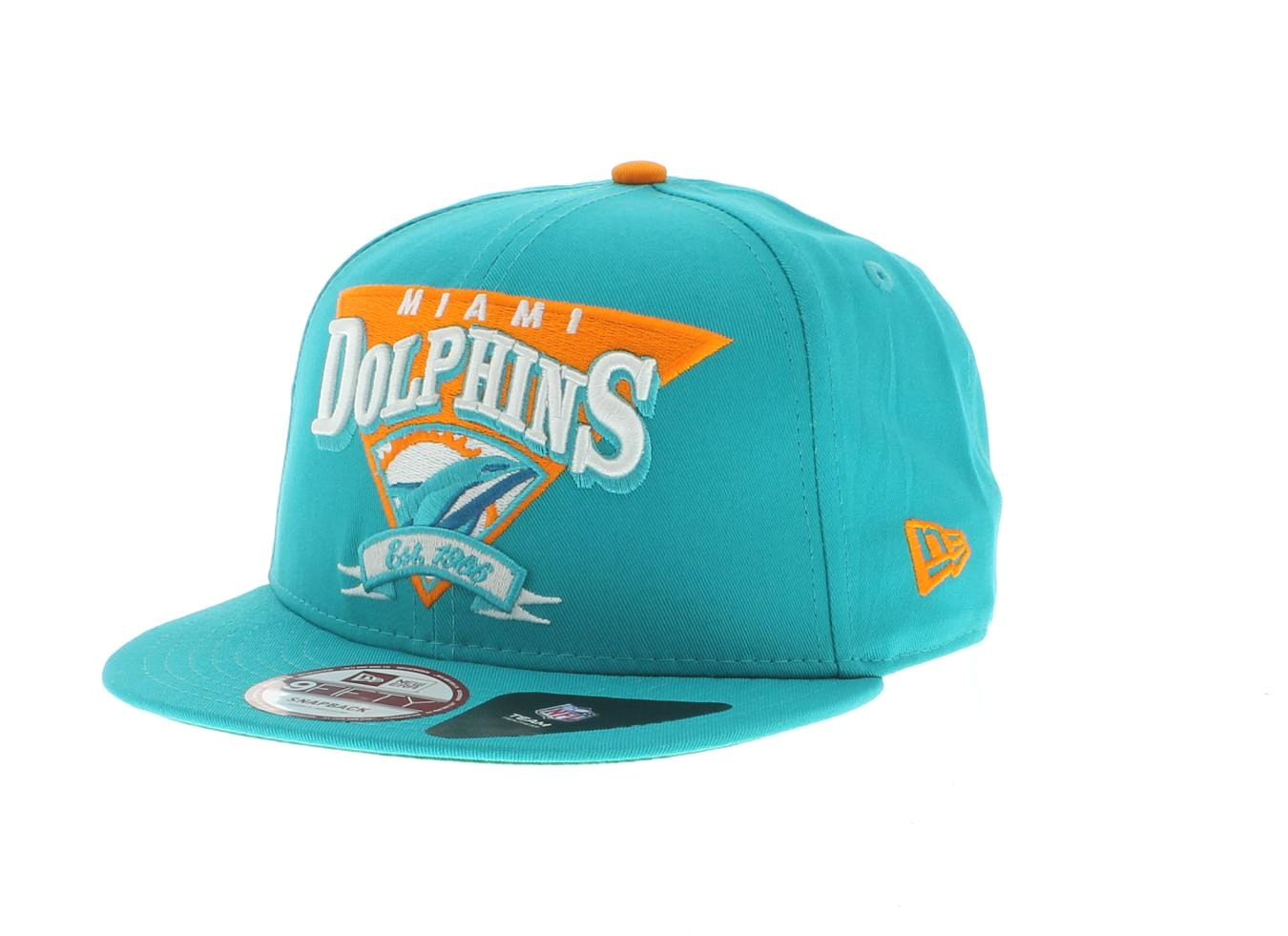 2 miami dolphins nfl the team angle snapback 950 9fifty team colors by new era cap