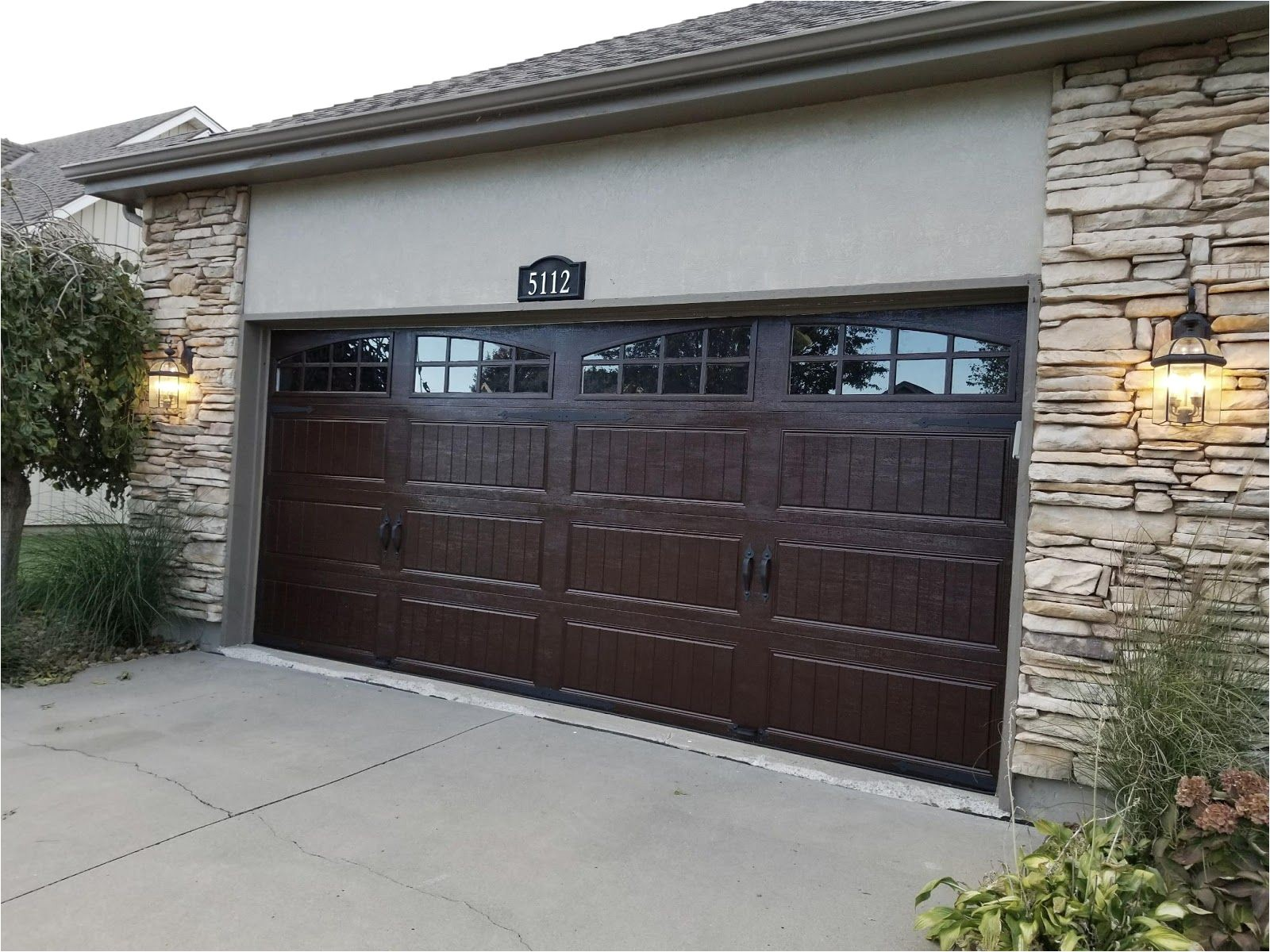 Minwax Gel Stain for Garage Door Minwax Gel Stain Color Hickory On White Garage Door for Faux Wood