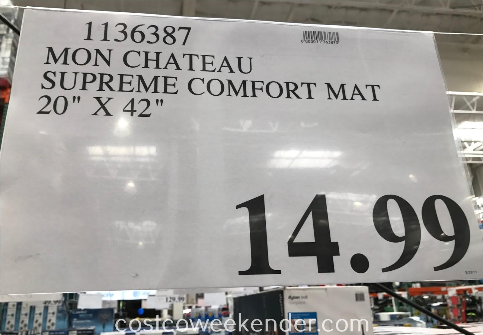 costco mon chateau anti fatigue supreme comfort mat 1136387