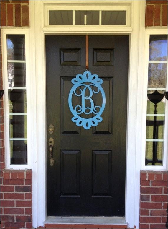 front door decorations monogrammed door