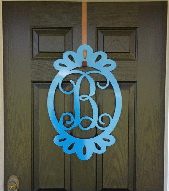 front door decorations monogram door