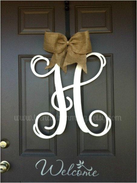 front door monogram ideas