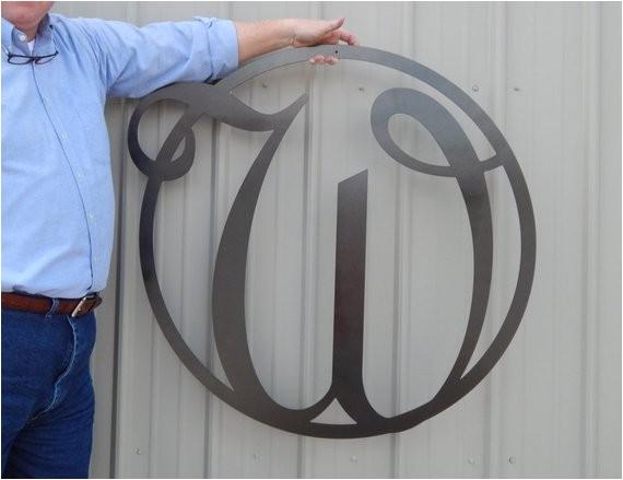 36 monogram front door circle last name