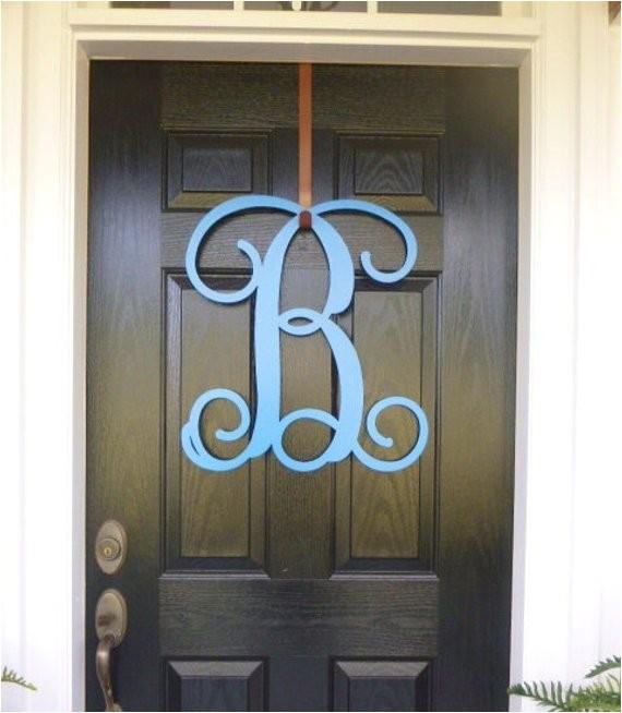 front door monogram monogram door hanger ref shop home active 15