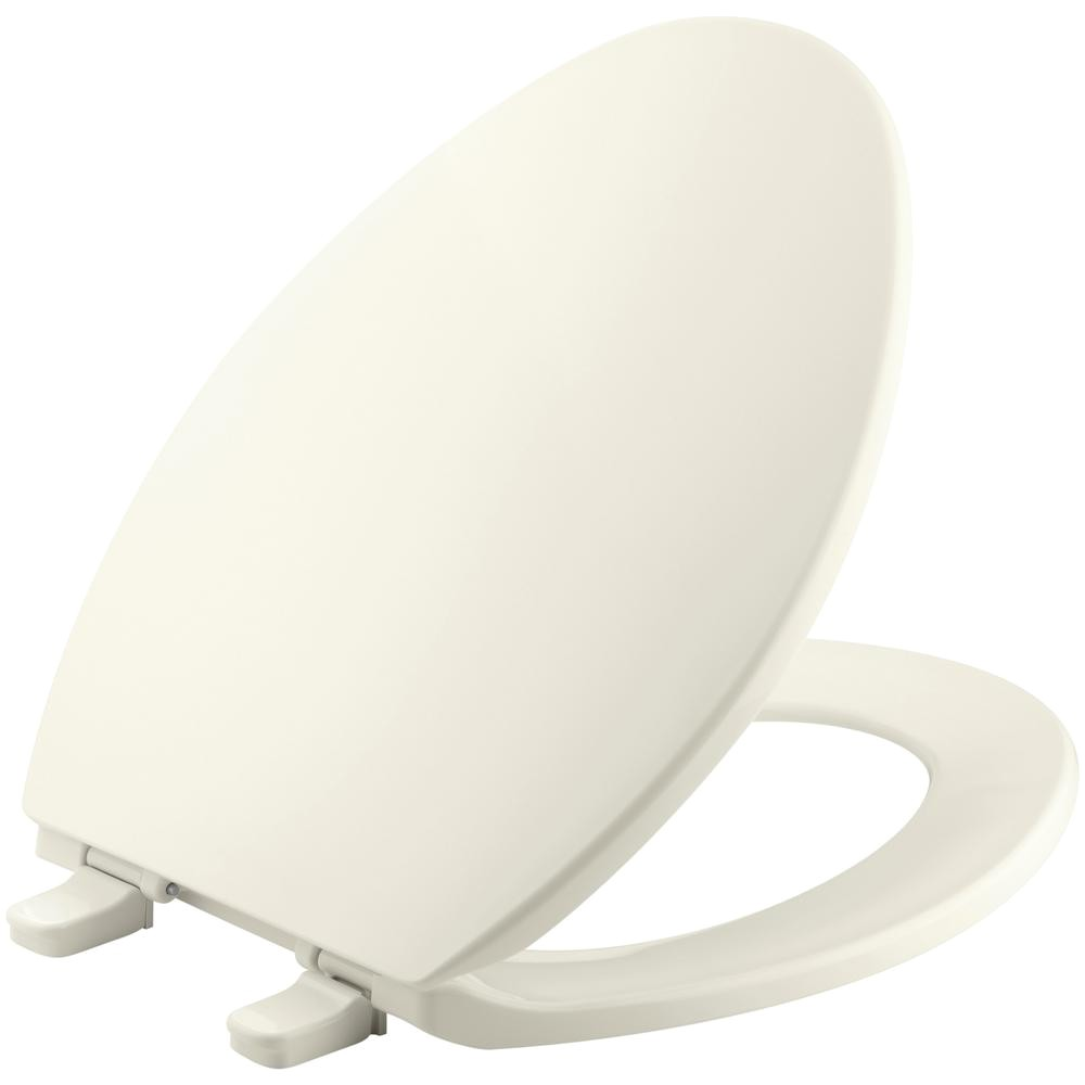 Most Comfortable toilet Seat Shape Kohler Grip Tight Cachet Q3 Elongated Closed Front toilet