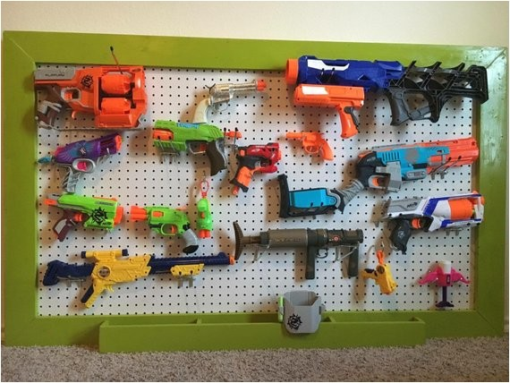 nerf gun storage rack pegboard 36x48 or