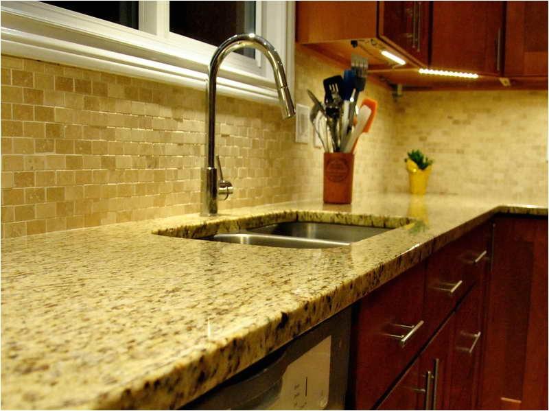 New Venetian Gold Granite and Tile Backsplash New Venetian Gold Granite for the Kitchen Backsplash Ideas