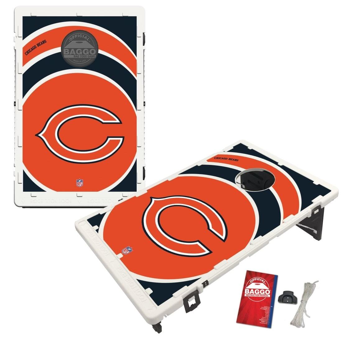 chicago bears nfl baggo bean bag toss cornhole game vortex design