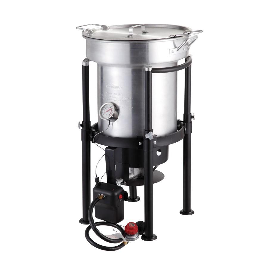 North American Outdoors Turkey Fryer Shop north American Outdoors Saf T Cooker 35 Quart 20 Lb