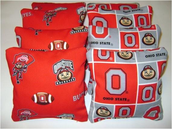 ohio state cornhole bean bags 8 tailgate