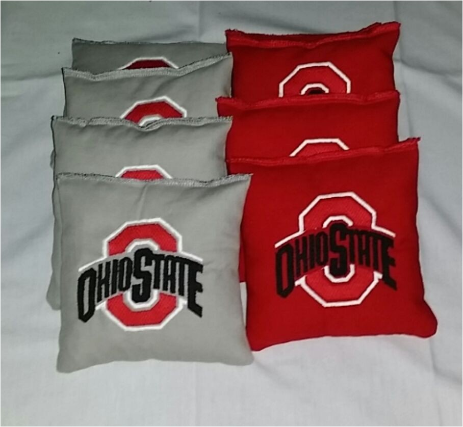 Ohio State Cornhole Bags Ohio State Embroidered Cornhole Bagg toss Bags Set Osu