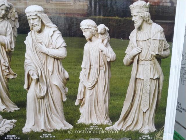 9 piece outdoor nativity set