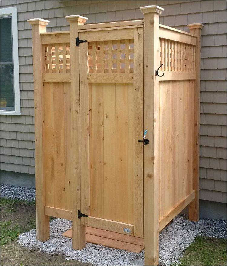 Outdoor Shower Enclosure Kits Cape Cod Outdoor Showers are Our Specialty Our Cape Cod Outdoor