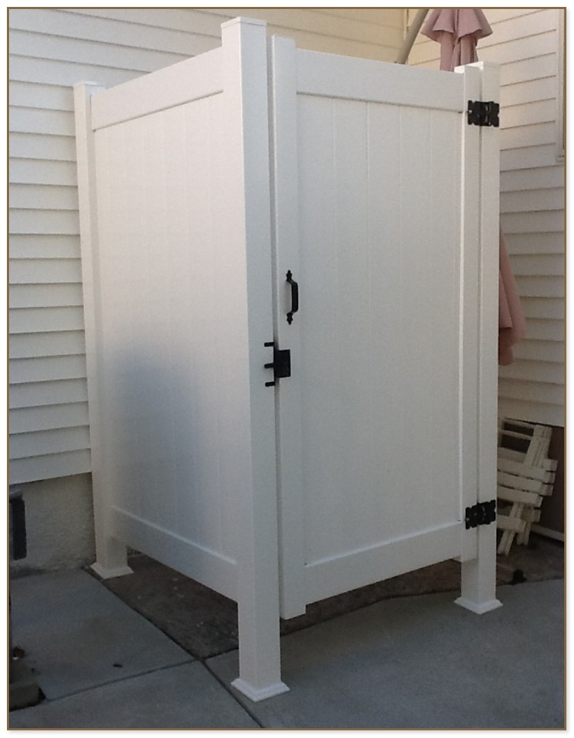 Outdoor Shower Enclosure Kits Vinyl Vinyl Outdoor Shower Enclosure Kits