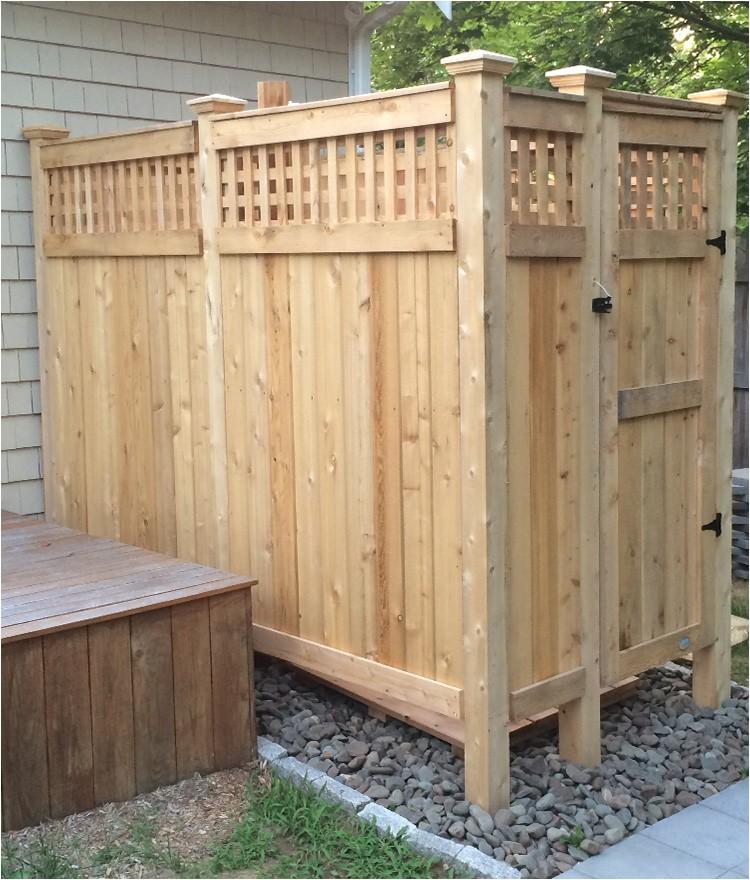 outdoor showers enclosure cedar dfs