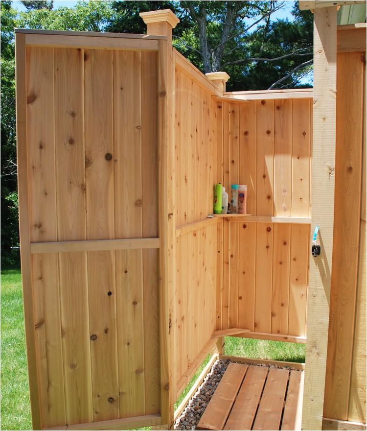 Outside Shower Enclosure Kits Outdoor Shower Enclosure Cedar Showers