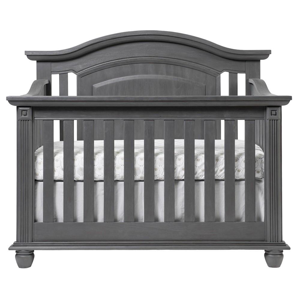 Oxford Baby London Lane Crib 4 In 1 Convertible Crib London Lane Arctic Gray Oxford
