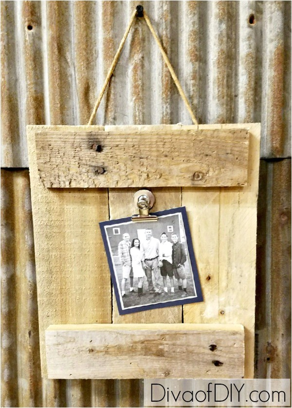 diy picture frame pallet wood