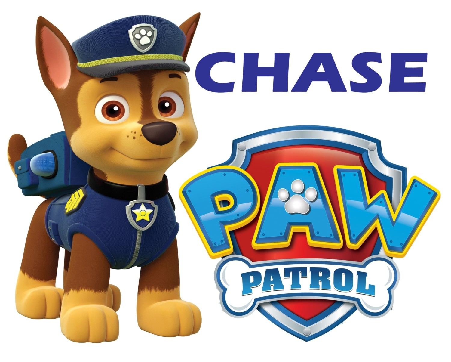 paw patrol chase iron on transfer