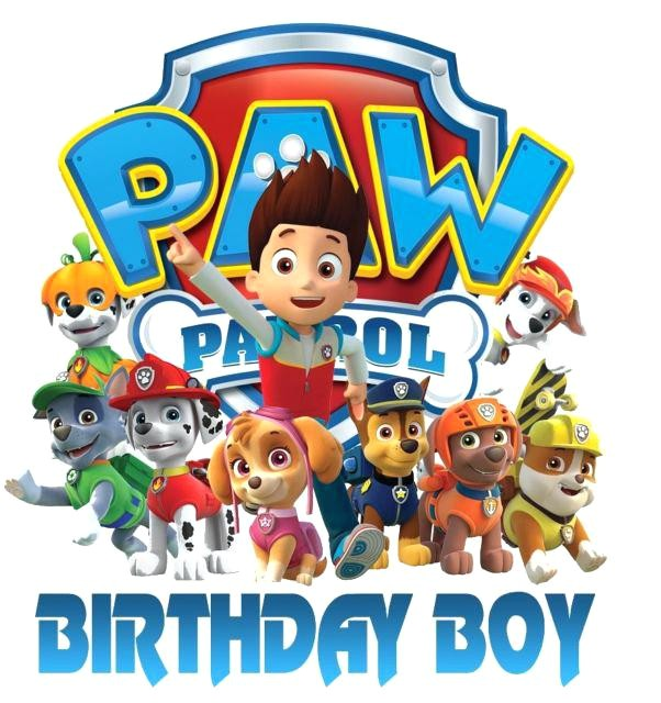 paw patrol iron on