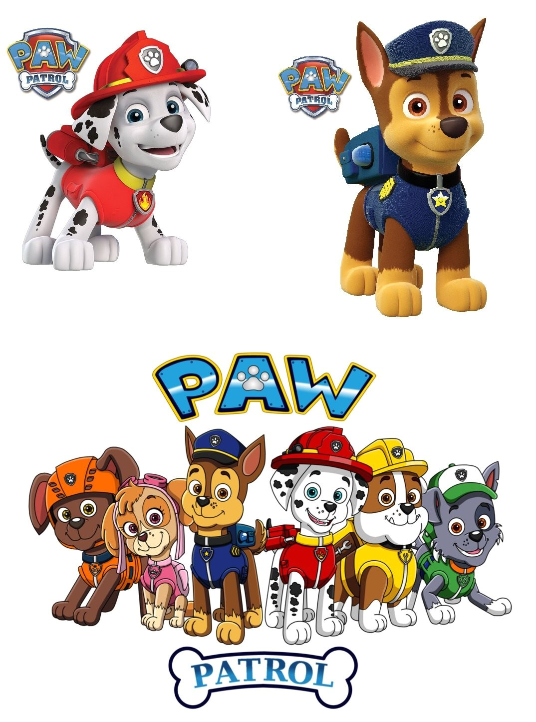 paw patrol t shirt iron on transfer 8x10