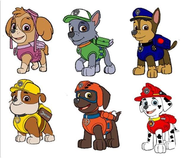 Paw Patrol Iron On Transfers 6 Paw Patrol Characters Fabric T Shirt Iron On