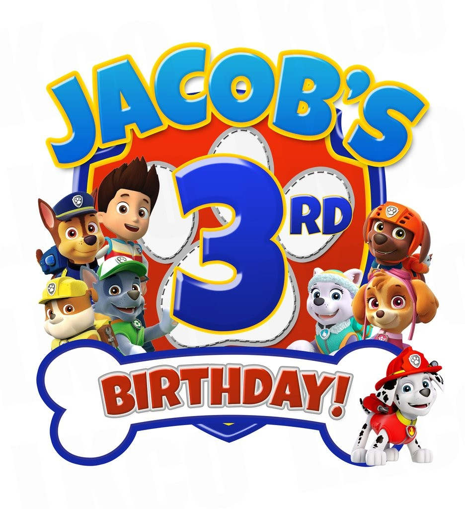 paw patrol iron on transfer for birthday shirt printable image for any name age 02